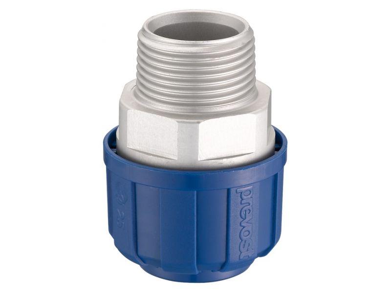 Rechte aluminium koppeling 20 mm 3/4