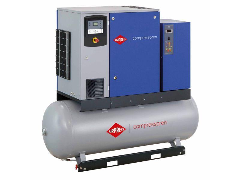 Schroefcompressor APS 20DD IVR Combi Dry 13 bar 20 pk/15 kW 258-2290 l/min 500 l