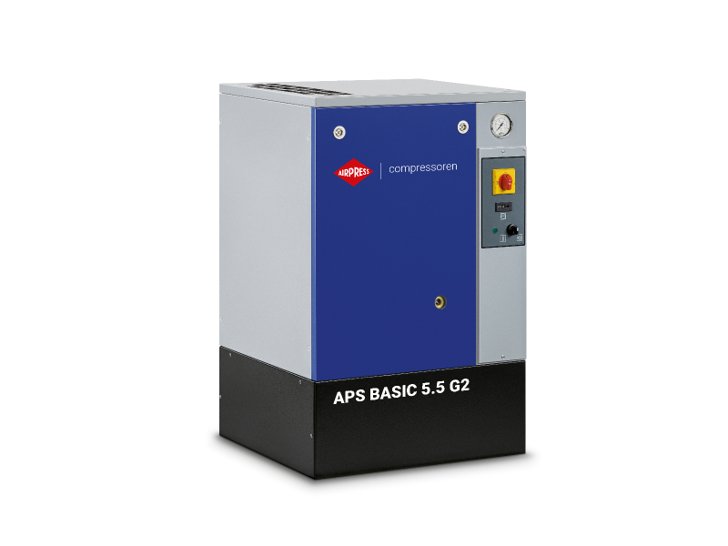 Schroefcompressor APS 5.5 Basic G2 10 bar 5.5 pk/4 kW 516 l/min