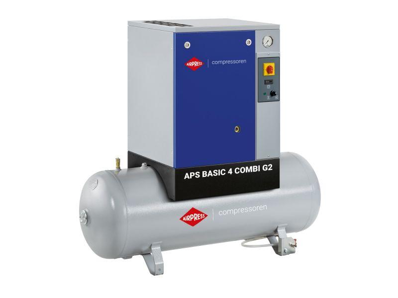 Schroefcompressor APS 4 Basic G2 Combi 10 bar 4 pk/3 kW 366 l/min 200 l