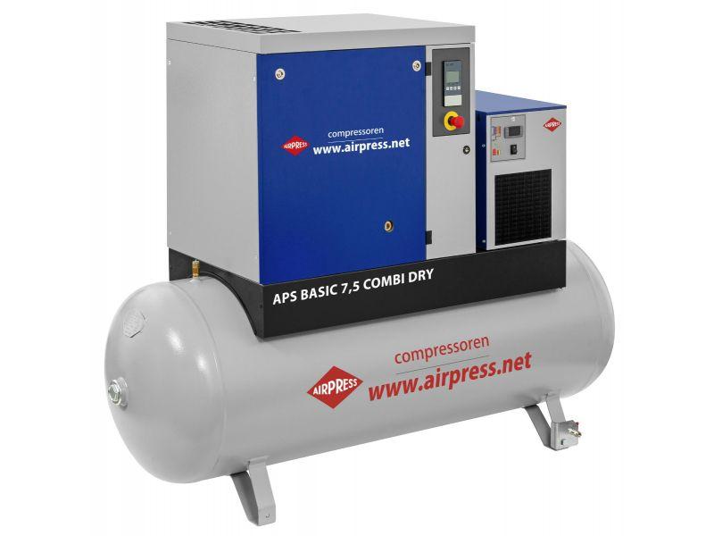 Schroefcompressor APS 7.5 Basic Combi Dry 10 bar 7.5 pk/5.5 kW 690 l/min 500 l