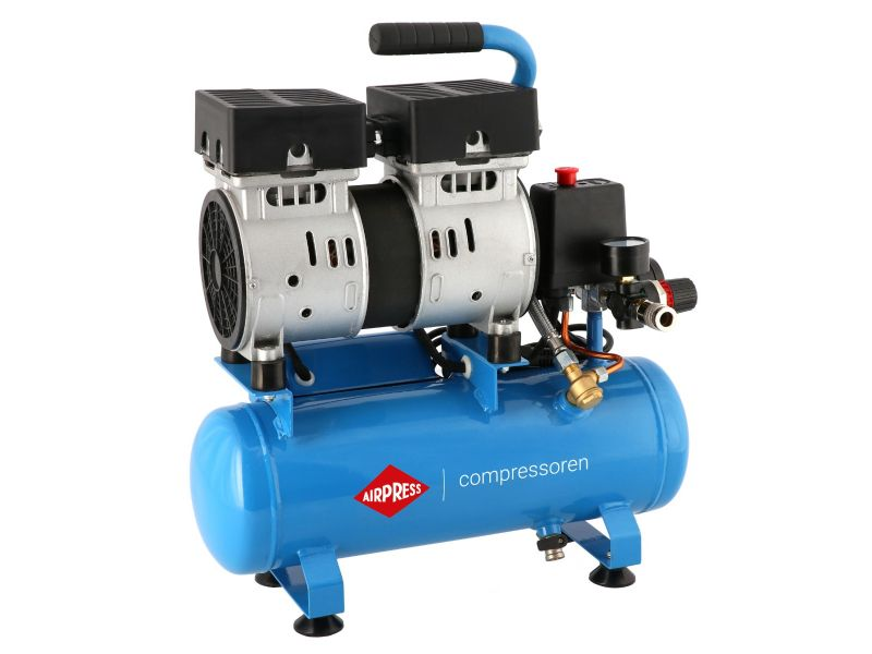 Stille Olievrije Compressor L 6-105 8 bar 0.6 pk/0.45 kW 25 l/min 6 l