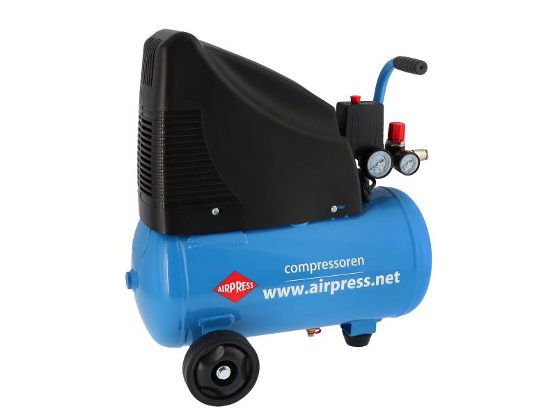 Olievrije compressor HLO 215-25 8 bar 1.5 pk/1.1 kW 172 l/min 24 l