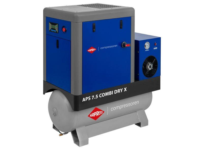 Schroefcompressor APS 7.5 Combi Dry X 10 bar 7.5 pk/5.5 kW 690 l/min 200 l