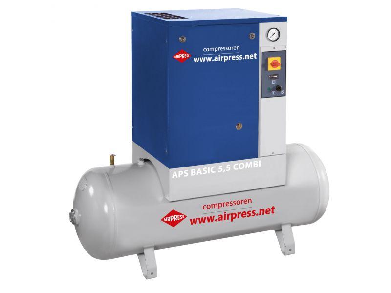 Schroefcompressor APS 5.5 Basic Combi 10 bar 5.5 pk 470 l/min 200 l