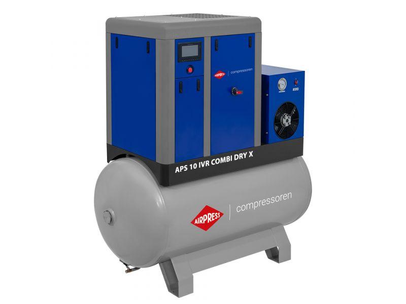 Schroefcompressor APS 10 IVR Combi Dry X 10 bar 10 pk/7.5 kW 270-950 l/min 500 l