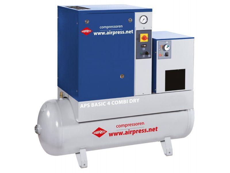 Schroefcompressor APS 4 Basic Combi Dry 10 bar 4 pk 320 l/min 200 l