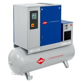 Schroefcompressor APS 7.5D Combi Dry 10 bar 7.5 pk/5.5 kW 670 l/min 500 l