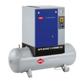 Schroefcompressor APS 3 Basic G2 Combi 10 bar 3 pk/2.2 kW 294 l/min 200 l