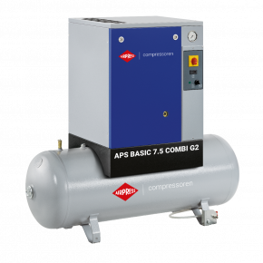 Schroefcompressor APS 7.5 Basic Combi G2 10 bar 7.5 pk 780 l/min 200 l