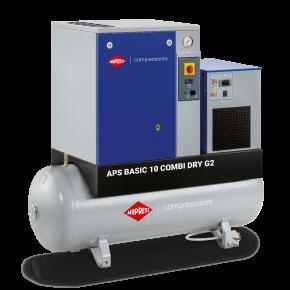Screw Compressor APS 10 Basic Combi Dry G2 10 bar 10 hp 984 l/min 500 l