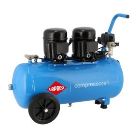 Stille compressor L 100-50 8 bar 1 pk/0.74 kW 80 l/min 50 l