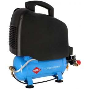 Stille Olievrije Compressor LMO 6-165 8 bar 1 pk/0.75 kW 132 l/min 6 l