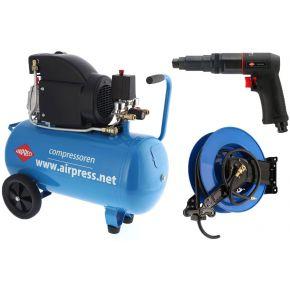 Compressor HL 325-50 8 bar 2.5 pk/1.8 kW 195 l/min 50 l Plug & Play