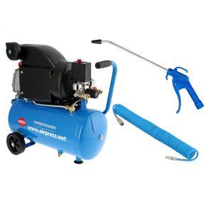 Compressor HL 310-25 8 bar 2 pk/1.5 kW 130 l/min 24 l Plug & Play