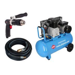 Compressor HL 340-90 10 bar 3 pk/2.2 kW 272 l/min 90 l Plug & Play