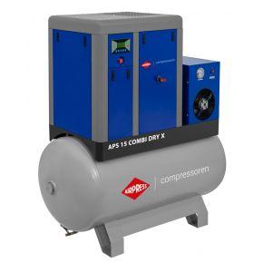 Schroefcompressor APS 15 Combi Dry X 10 bar 15 pk/11 kW 1410 l/min 500 l