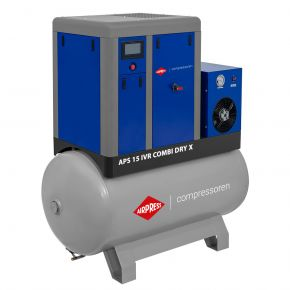 Schroefcompressor APS 15 IVR Combi Dry X 10 bar 15 pk/11 kW 380-1410 l/min 500 l
