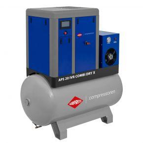 Schroefcompressor APS 20 IVR Combi Dry X 10 bar 20 pk/15 kW 410-1870 l/min 500 l