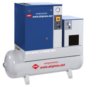 Schroefcompressor APS 3 Basic Combi Dry 10 bar 3 pk 240 l/min 200 l