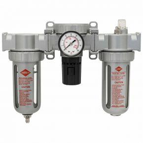 "Olie-/Waterafscheider reduceerventiel en olienevelaar 1/4"" 15 bar"