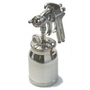 "Professionele verfspuit 1.7 mm nozzle 3.1-4.8 bar 225-335 l/min 1/4"" met onderbeker"