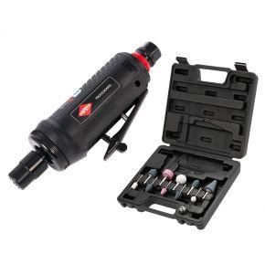 "Mini stiftslijper 6 mm 1/4"" 312 l/min en slijpstiften in koffer Plug & Play"