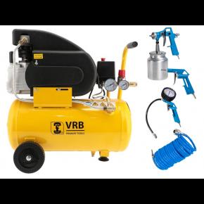 Compressor LC24-1.5 VRB 8 bar 1.5 pk/1.1 kW 125 l/min 24 l Plug & Play