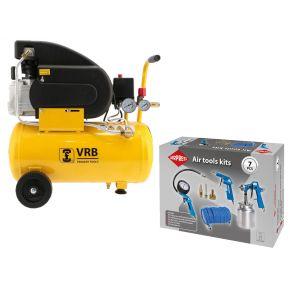 Compressor 8LC24-1.5 VRB 8 bar 1.5 pk 125 l/min 24 l Plug & Play