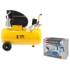 Compressor LC50-2.0 VRB 8 bar 2 pk/1.5 kW 160 l/min 50 l Plug & Play