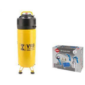 Compressor 8LCV50-2.0 VRB 10 bar 2 pk 166 l/min 50 l Plug & Play