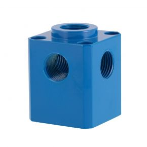 """Aluminum manifold cube 5 x 1/2"""""""