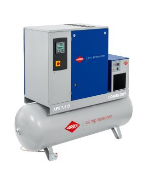 Schroefcompressor Combi Dry 10 bar 7,5 pk 500 l 670 l/min