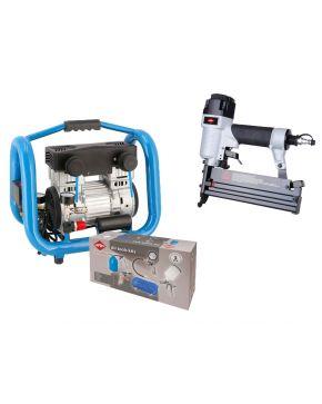 Stille Olievrije Compressor LMO 4-170 8 bar 1.5 pk 136 l/min 4 l Plug & Play