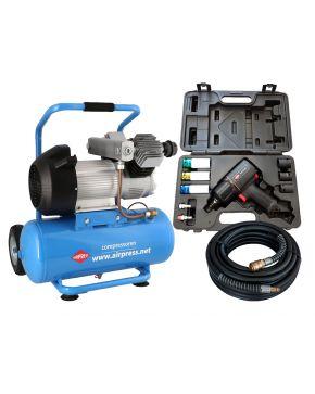 Compressor LM 25-350 10 bar 3 pk 280 l/min 25 l Plug & Play