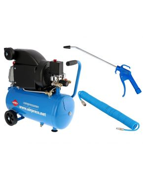 Compressor HL 310-25 8 bar 2 pk 130 l/min 24 l Plug & Play