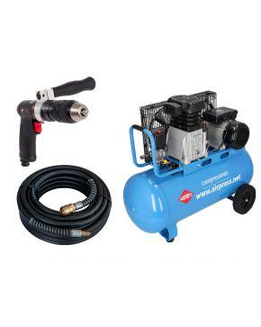 Compressor HL 340-90 10 bar 3 pk 272 l/min 90 l Plug & Play