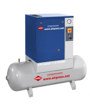 Schroefcompressor APS 7.5 Basic Combi 10 bar 7.5 pk 600 l/min 200 l