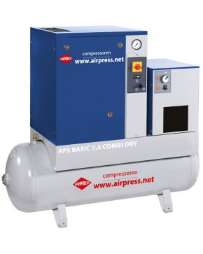 Schroefcompressor APS 7.5 Basic Combi Dry 10 bar 7.5 pk 600 l/min 200 l