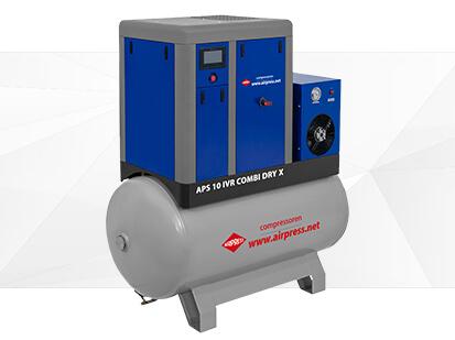 Airpress X Serie Schroefcompressor 10 IVR Combi Dry