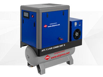 Airpress X Serie Schroefcompressor 7-5 IVR Combi Dry