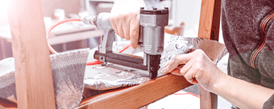 Compressor voor meubels stofferen