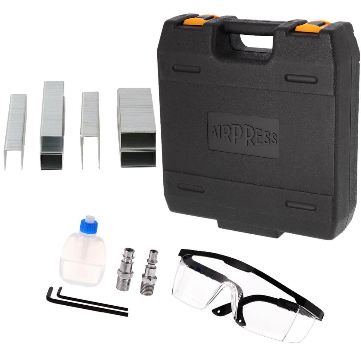 Pneumatische Tacker in koffer met accessoires