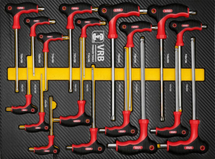 Module 5: Torx- en inbussleutelset, 18 delig