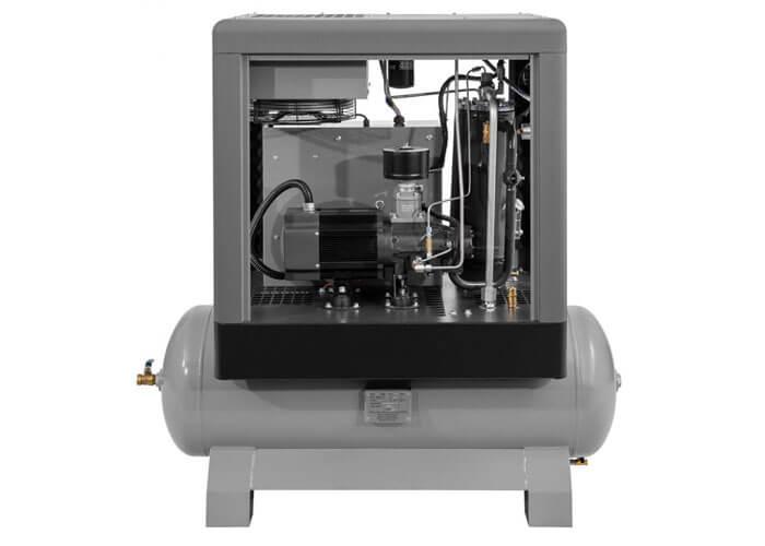 Achterkant schroefcompressor APS 7.5 IVR Combi X