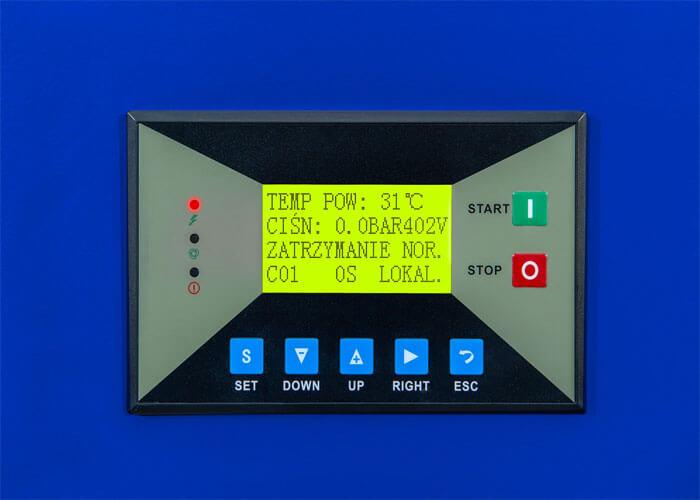MAM-860 kleuren touchscreen op de APS 10 IVR Combi Dry X