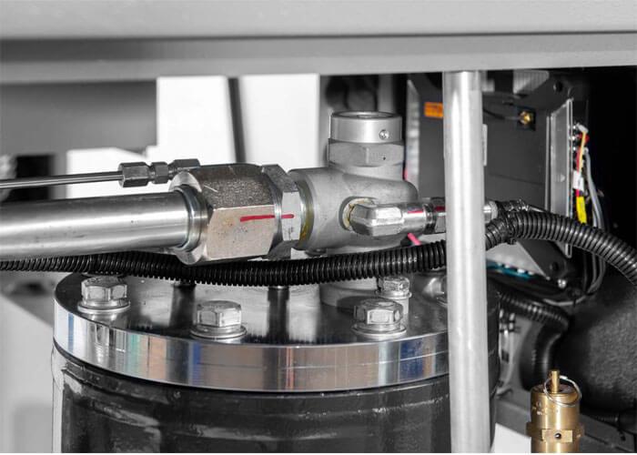 Markering wanneer de schroefcompressor getest is APS 10 Combi dry X
