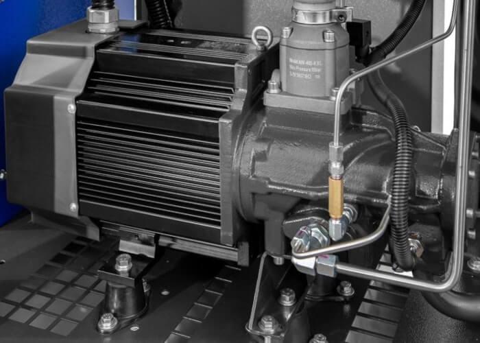 Single-stage schroefblok gekoppeld aan permanent magneet motor APS 10 Combi dry X